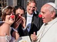 Pope Francis with clown nose