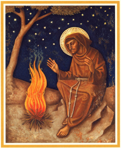 Francis by the fire